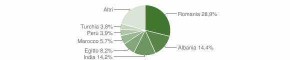 Grafico cittadinanza stranieri - Rivolta d'Adda 2019