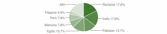 Grafico cittadinanza stranieri - Terranova dei Passerini 2018