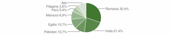 Grafico cittadinanza stranieri - Terranova dei Passerini 2019