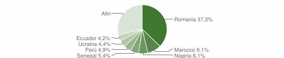 Grafico cittadinanza stranieri - Trezzano Rosa 2019