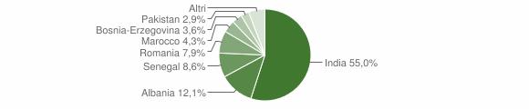 Grafico cittadinanza stranieri - Adrara San Rocco 2014