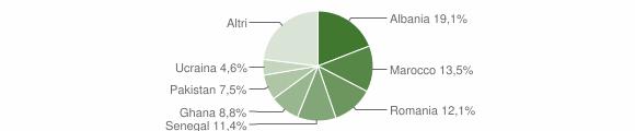 Grafico cittadinanza stranieri - Palazzolo sull'Oglio 2008