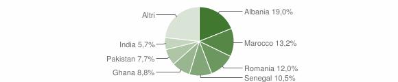 Grafico cittadinanza stranieri - Palazzolo sull'Oglio 2009
