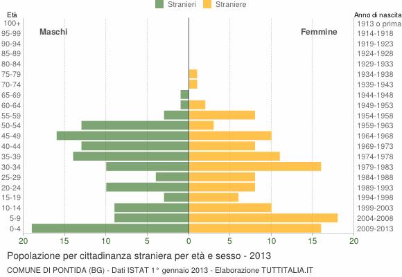 Grafico cittadini stranieri - Pontida 2013