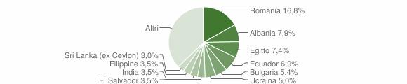 Grafico cittadinanza stranieri - Cisliano 2019
