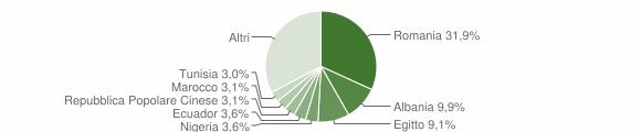 Grafico cittadinanza stranieri - Lodi 2019