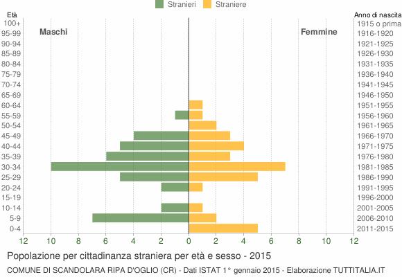 Grafico cittadini stranieri - Scandolara Ripa d'Oglio 2015