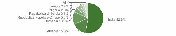 Grafico cittadinanza stranieri - Solarolo Rainerio 2015