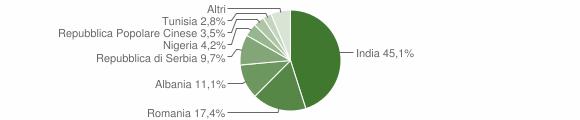 Grafico cittadinanza stranieri - Solarolo Rainerio 2019