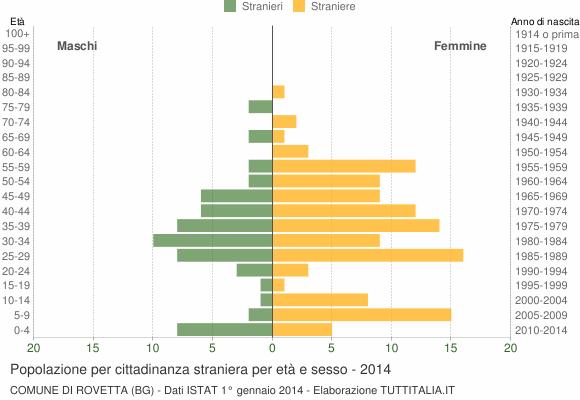 Grafico cittadini stranieri - Rovetta 2014
