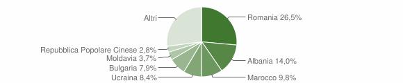 Grafico cittadinanza stranieri - Vernate 2019