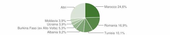 Grafico cittadinanza stranieri - Alzate Brianza 2011