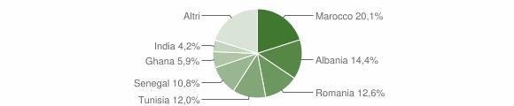 Grafico cittadinanza stranieri - Capriolo 2009
