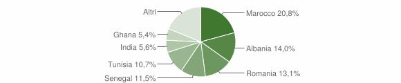 Grafico cittadinanza stranieri - Capriolo 2010