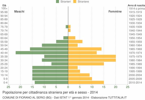 Grafico cittadini stranieri - Fiorano al Serio 2014