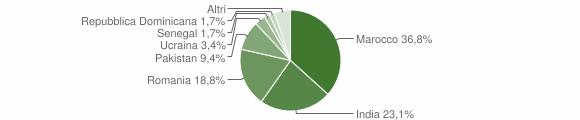 Grafico cittadinanza stranieri - Malonno 2010