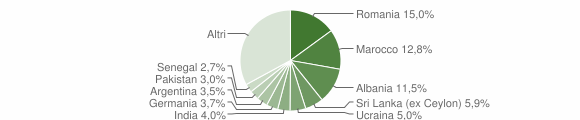 Grafico cittadinanza stranieri - Salò 2005