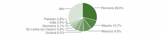 Grafico cittadinanza stranieri - Salò 2008