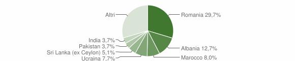 Grafico cittadinanza stranieri - Salò 2011