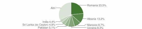 Grafico cittadinanza stranieri - Salò 2012