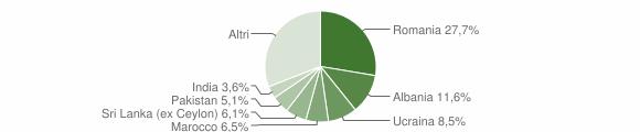 Grafico cittadinanza stranieri - Salò 2014