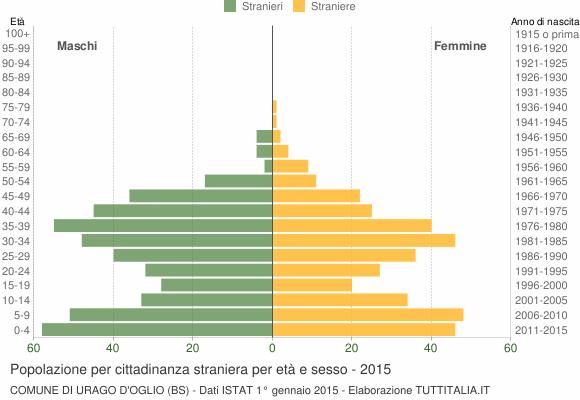 Grafico cittadini stranieri - Urago d'Oglio 2015