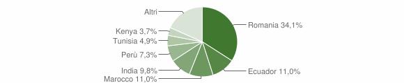 Grafico cittadinanza stranieri - Quintano 2019
