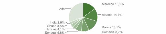 Grafico cittadinanza stranieri - Scanzorosciate 2010