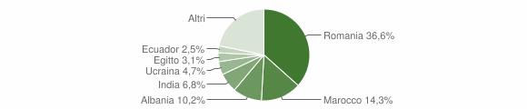 Grafico cittadinanza stranieri - Sergnano 2019