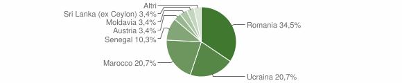 Grafico cittadinanza stranieri - Losine 2017
