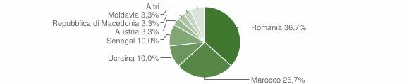 Grafico cittadinanza stranieri - Losine 2019