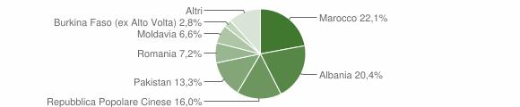 Grafico cittadinanza stranieri - Tavernole sul Mella 2008