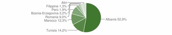 Grafico cittadinanza stranieri - Berzo Inferiore 2008