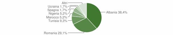 Grafico cittadinanza stranieri - Berzo Inferiore 2013