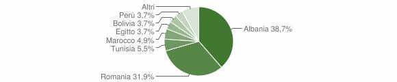 Grafico cittadinanza stranieri - Berzo Inferiore 2019