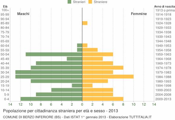 Grafico cittadini stranieri - Berzo Inferiore 2013