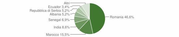 Grafico cittadinanza stranieri - Castel Gabbiano 2019