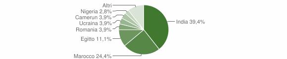 Grafico cittadinanza stranieri - Castelgerundo 2014