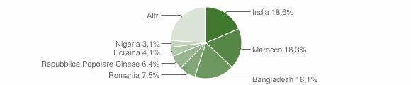 Grafico cittadinanza stranieri - San Benedetto Po 2019