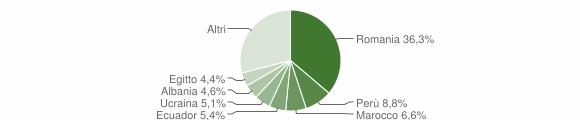 Grafico cittadinanza stranieri - Sordio 2019