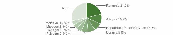Grafico cittadinanza stranieri - Castel Mella 2016