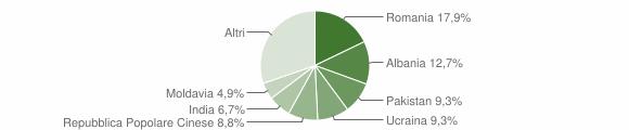 Grafico cittadinanza stranieri - Castel Mella 2019