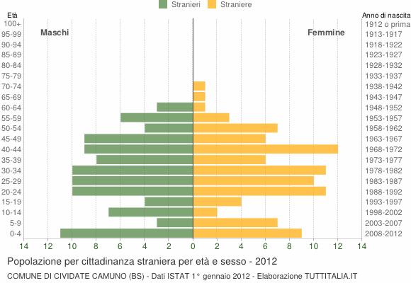 Grafico cittadini stranieri - Cividate Camuno 2012