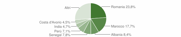 Grafico cittadinanza stranieri - Olgiate Molgora 2019