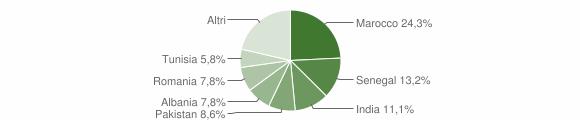 Grafico cittadinanza stranieri - Spirano 2019
