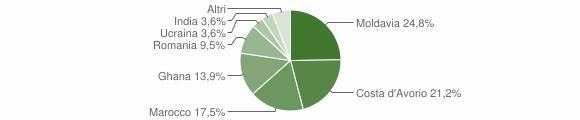 Grafico cittadinanza stranieri - Vallio Terme 2013