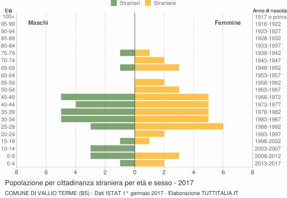 Grafico cittadini stranieri - Vallio Terme 2017