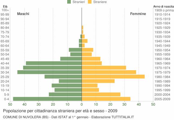 Grafico cittadini stranieri - Nuvolera 2009