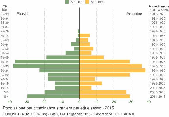 Grafico cittadini stranieri - Nuvolera 2015