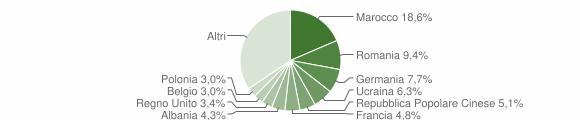 Grafico cittadinanza stranieri - Laveno-Mombello 2019